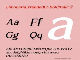 LimonataExtendedLt-BoldItalic
