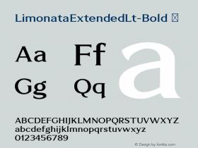 LimonataExtendedLt-Bold