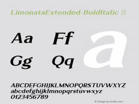 LimonataExtended-BoldItalic