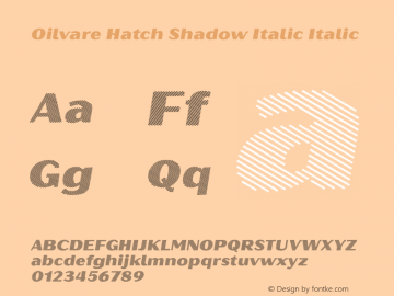 Oilvare Hatch Shadow Italic