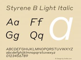 Styrene B Light