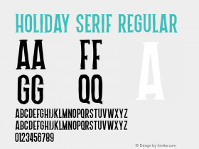 Holiday Serif