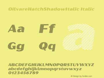 OilvareHatchShadowItalic