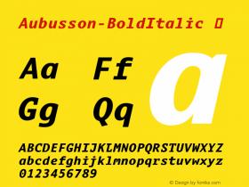 Aubusson-BoldItalic