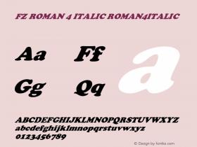 FZ ROMAN 4 ITALIC