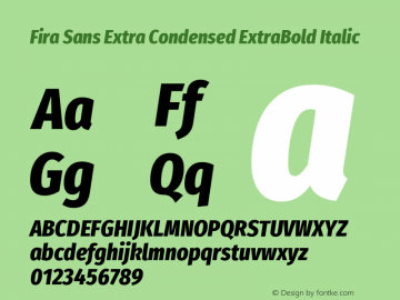 Fira Sans Extra Condensed ExtraBold