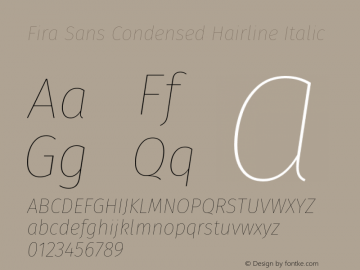 Fira Sans Condensed Hairline