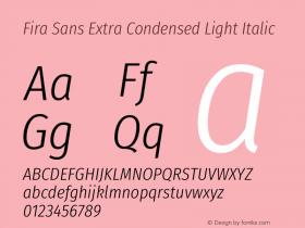 Fira Sans Extra Condensed Light
