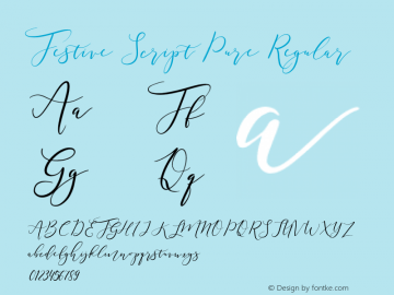 Festive Script Pure