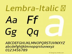 Lembra-Italic