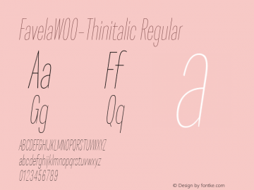 Favela-Thinitalic