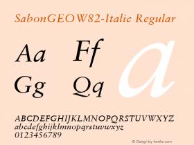 SabonGEO-Italic