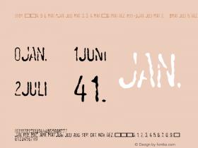 LinotypeTagesstempel-Mager