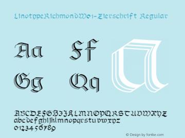 LinotypeRichmond-Zierschrift