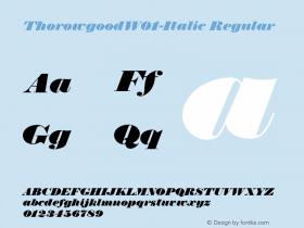 Thorowgood-Italic