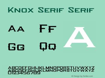 Knox Serif