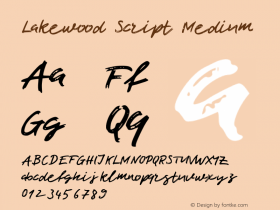 Lakewood Script