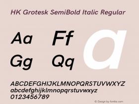 HK Grotesk SemiBold Italic