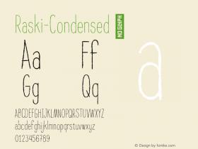 Raski-Condensed