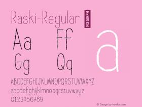 Raski-Regular