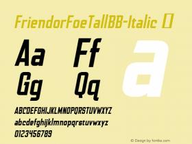 FriendorFoeTallBB-Italic