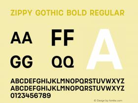 Zippy Gothic Bold
