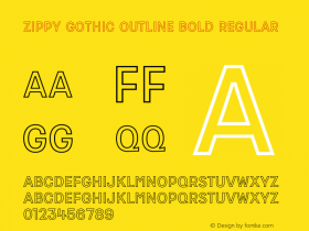 Zippy Gothic Outline Bold