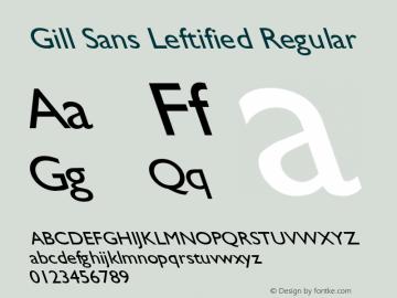 Gill Sans Leftified