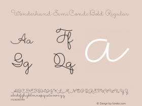 Wonderhand SemiCond0Bold