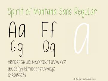 Spirit of Montana Sans