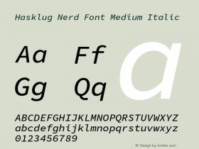 Hasklug Nerd Font