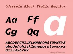 Odisseia Black Italic