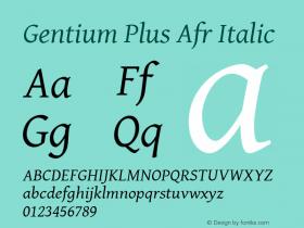 Gentium Plus Afr