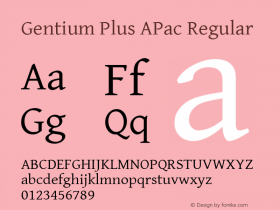 Gentium Plus APac