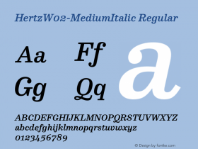 Hertz-MediumItalic