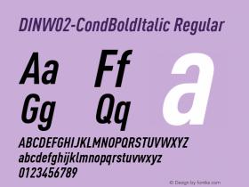 DIN-CondBoldItalic