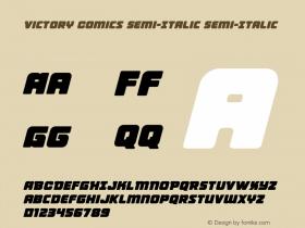 Victory Comics Semi-Italic