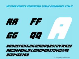 Victory Comics Condensed Italic