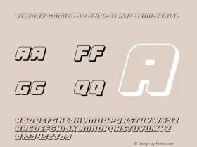 Victory Comics 3D Semi-Italic