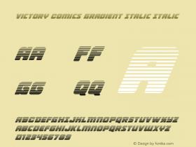 Victory Comics Gradient Italic