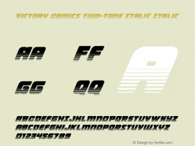 Victory Comics Two-Tone Italic