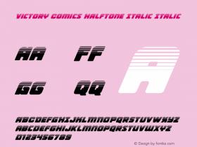 Victory Comics Halftone Italic