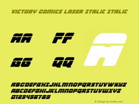 Victory Comics Laser Italic