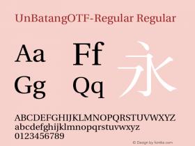 UnBatangOTF-Regular
