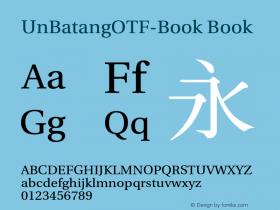 UnBatangOTF-Book