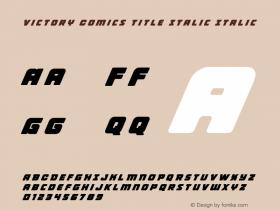 Victory Comics Title Italic