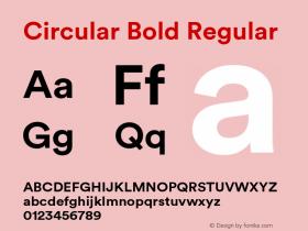 Circular Bold