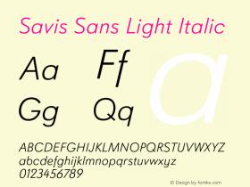 Savis Sans Light