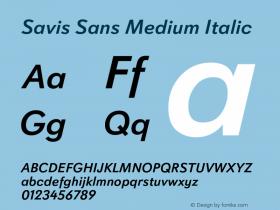 Savis Sans Medium