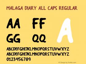 Malaga Diary All Caps